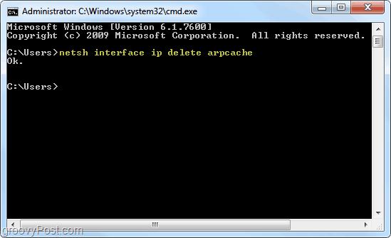 arp cache v systéme Windows 7
